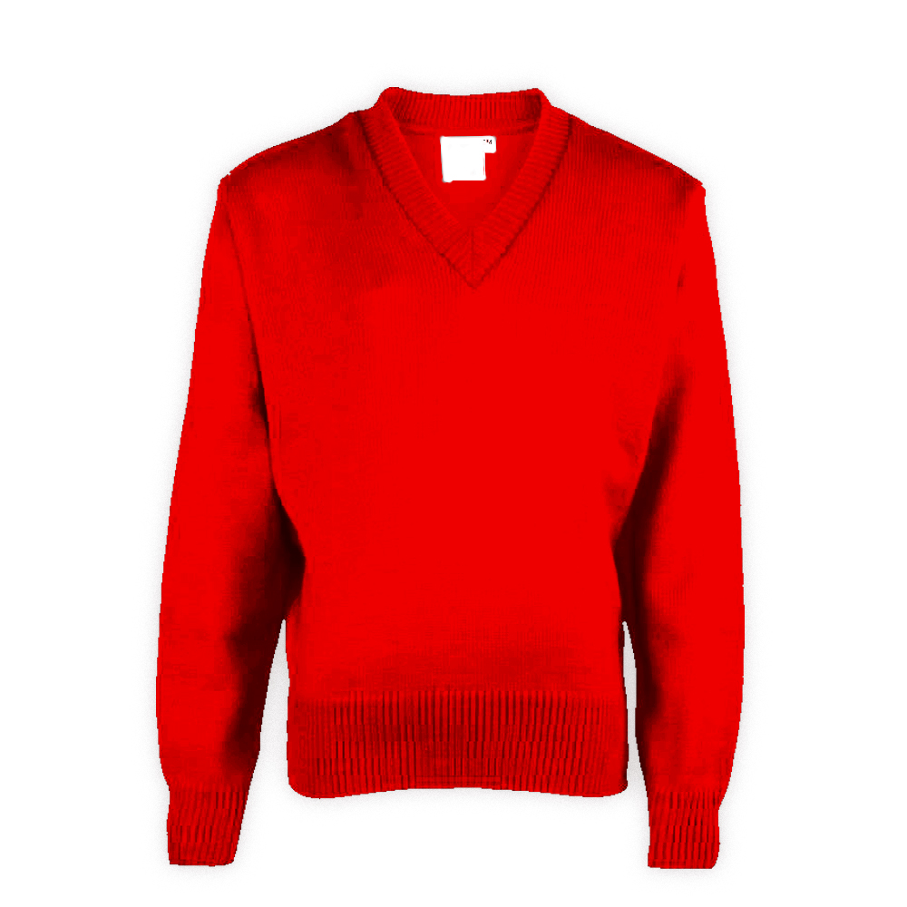 Red Plain School Sweaters