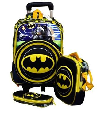 Batman Removable trolley bag 3in1