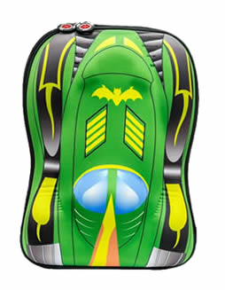 Green batman car 3D backpack