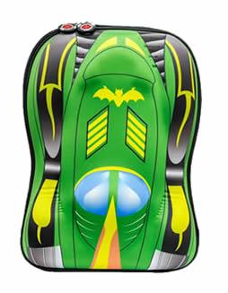 Green batman car 3D backpack