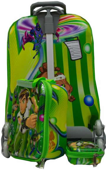 Ben10  Suitcase Trolley Set 3in1