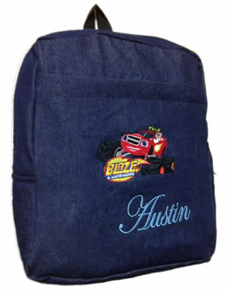 Blaze denim bag with name print