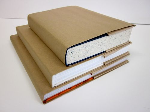 Book covering with brown covers