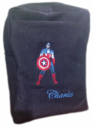 Captain America Denim Bag With Name