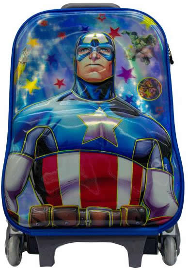 Captain American 3in1 Suitcase Trolley Set