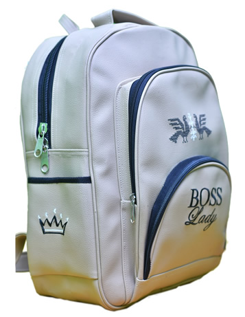 Boss lady classic bag white