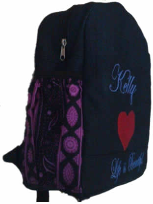 Purple african finishing Denim Bag