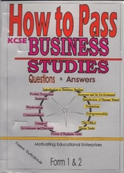 How To Pass Business Studies Form 3,4