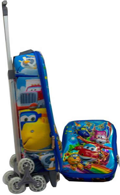 Flyingplanes 3n1 Suitcase Trolley set