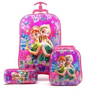 Frozen Suitcase trolley set 3in1