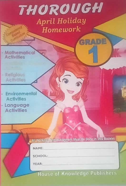 Thorough Holiday Homework Book Grade1