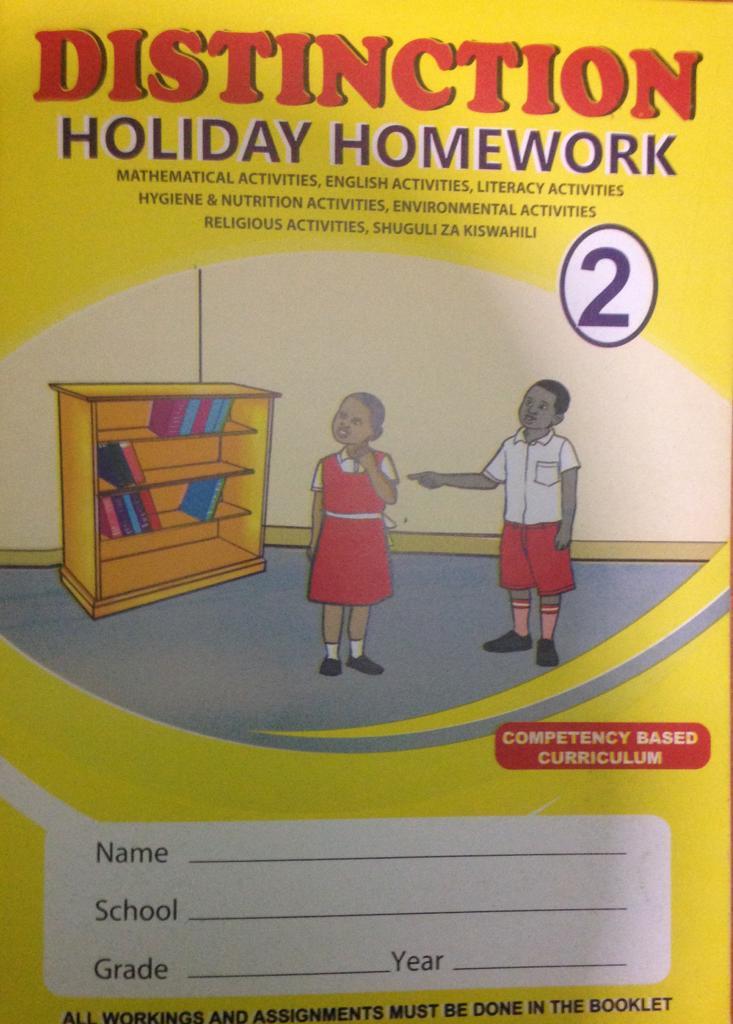 Distinction Holiday Homework Grade 2