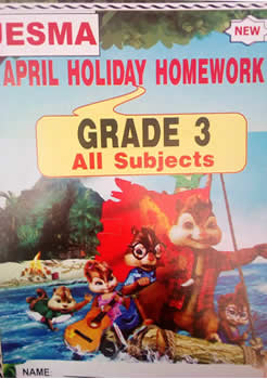 Jesma Holiday Homework Book Grade3
