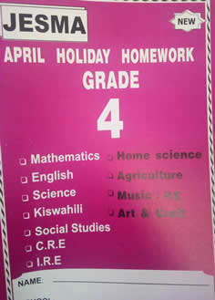 Jesma Holiday Homework Grade 4