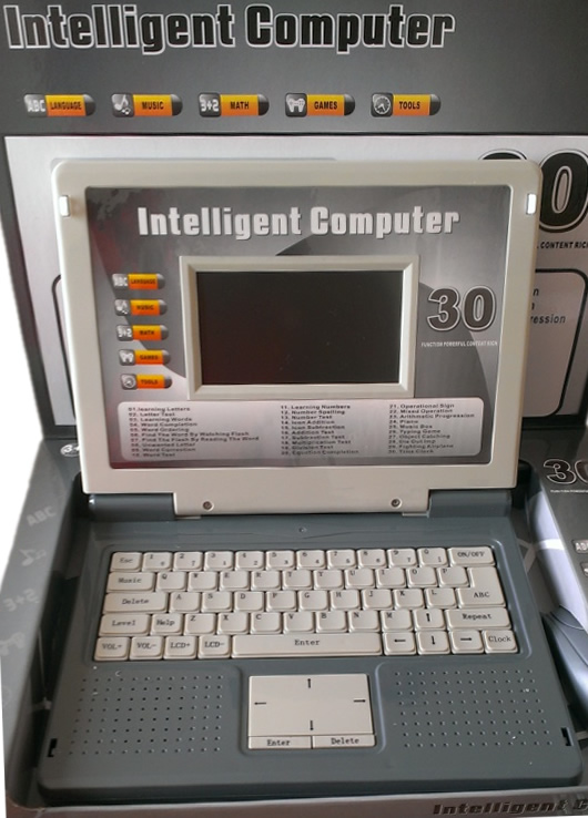 Grey Kids Laptop Learning Machine