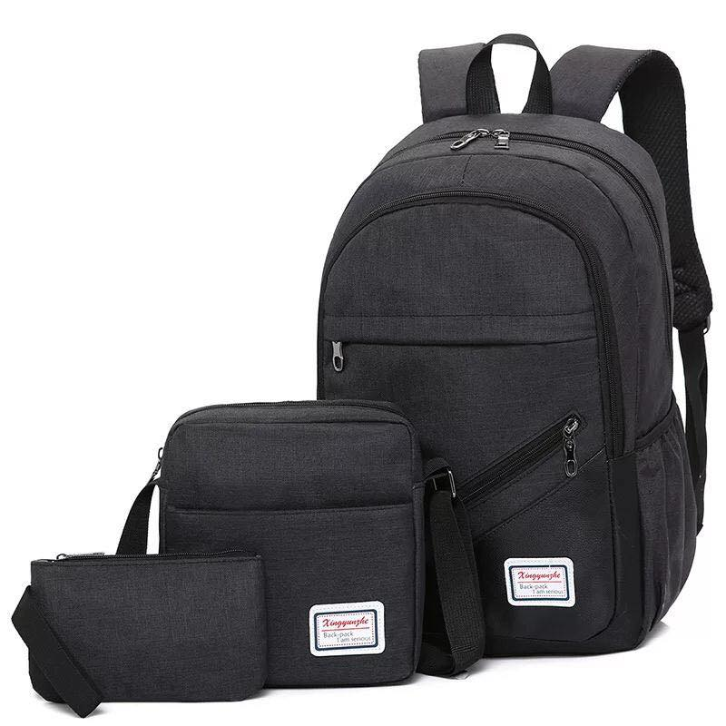 Backpack  3in1 Black Fashion bag School Bag