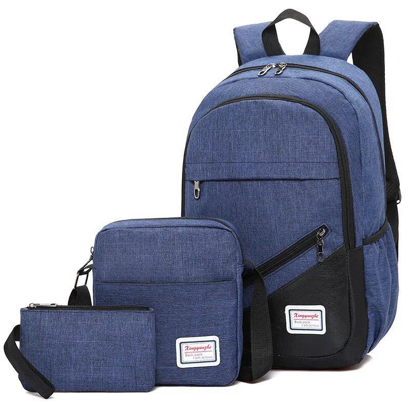 Backpack 3in1 Dark Blue Fashion bag School bag