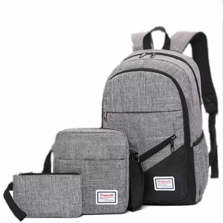 Backpack 3in1 Grey fashion bag School bag