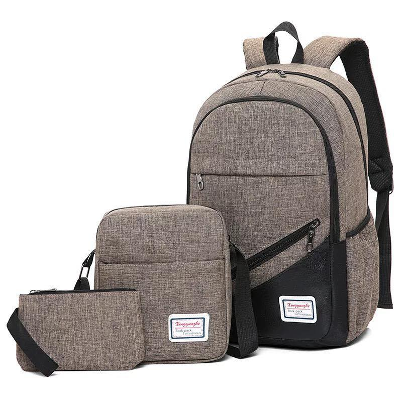 Backpack 3in1 Brown fashion bag School bag