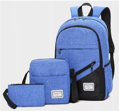 Backpack 3in1 Light Blue fashion bag School bag