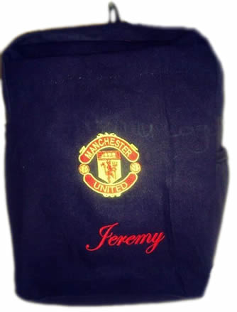 Manchester Utd Denim Bag With Name Print