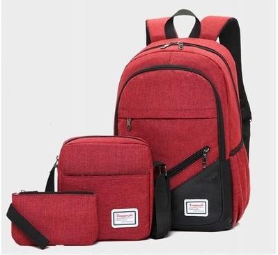 Backpack 3in1 Maroon fashion bag school bag