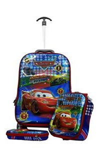 Mc Queen 3in1 Suitcase Trolley Set
