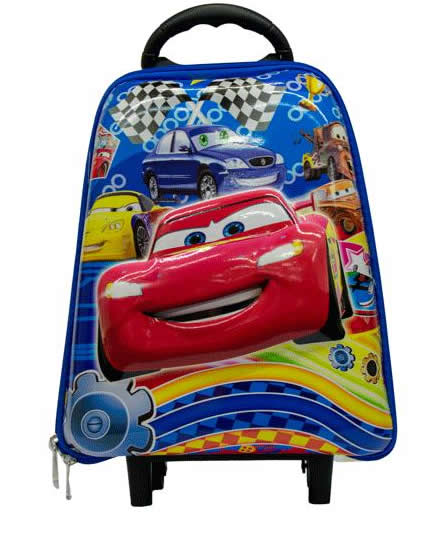 Mc Queen Preschool 3D Trolley Bag