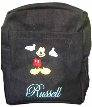 Mickey Mouse Denim Bag With Name