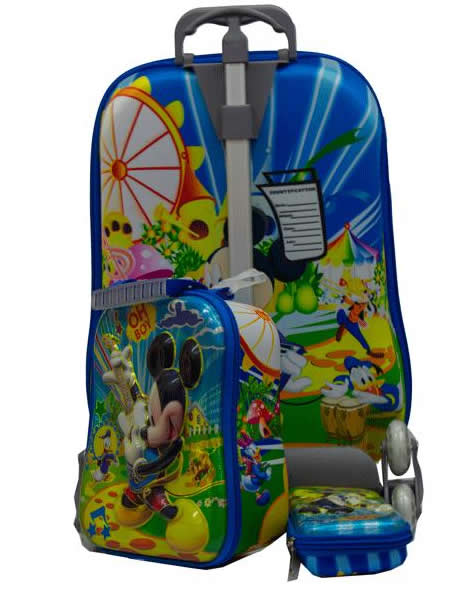 Mickey Suitcase Trolley Set 3in1