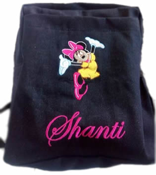 Pink minnie Mouse Denim Bag With Name Print