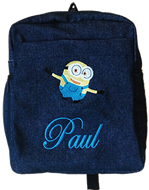 Minion Denim bag with name print
