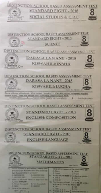 Distinction  STD8 pastpaper set