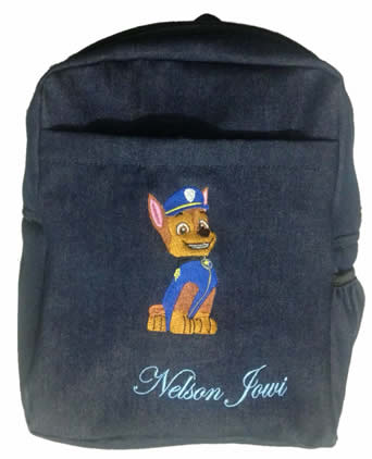 Paw Patrol Denim bag with name print