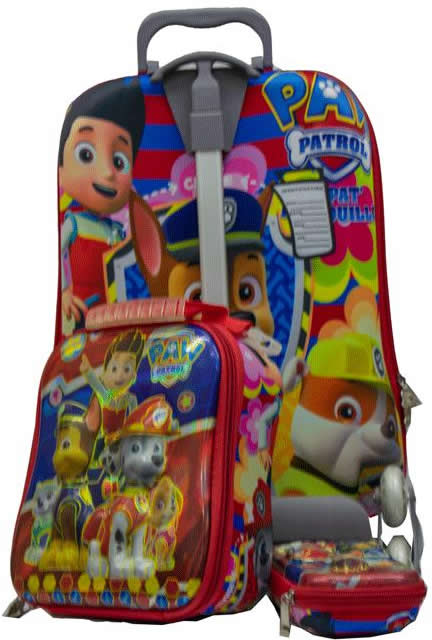 Pawpatrol 3in1 Suitcase Trolley Set