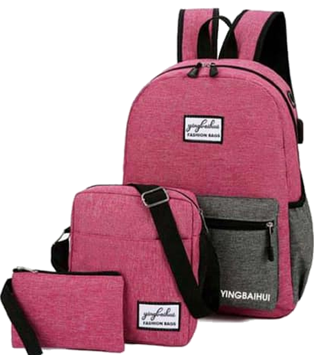 Backpack 3in1 Pink Grey Type H