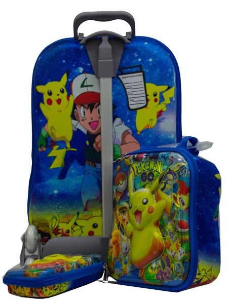 Pokemon Suitcase Trolley Set 3in1