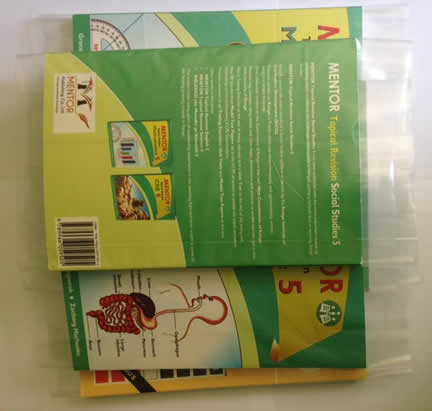 Book Covering With Polyethene Covers