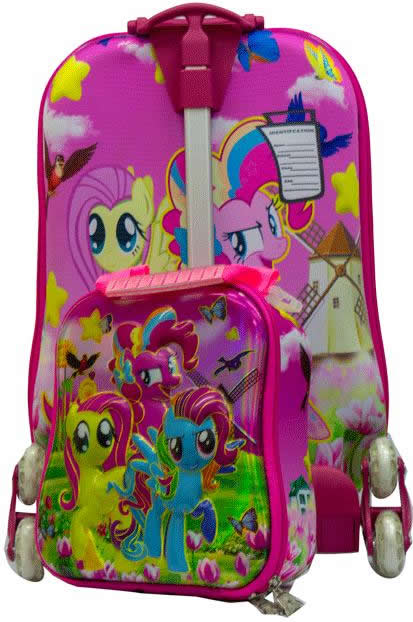 My Little Pony 3in1 Suitcase Trolley Set