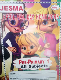 Jesma Holiday Homework Book PP1