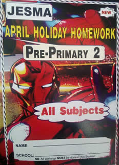 Jesma Holiday Homework Book PP2