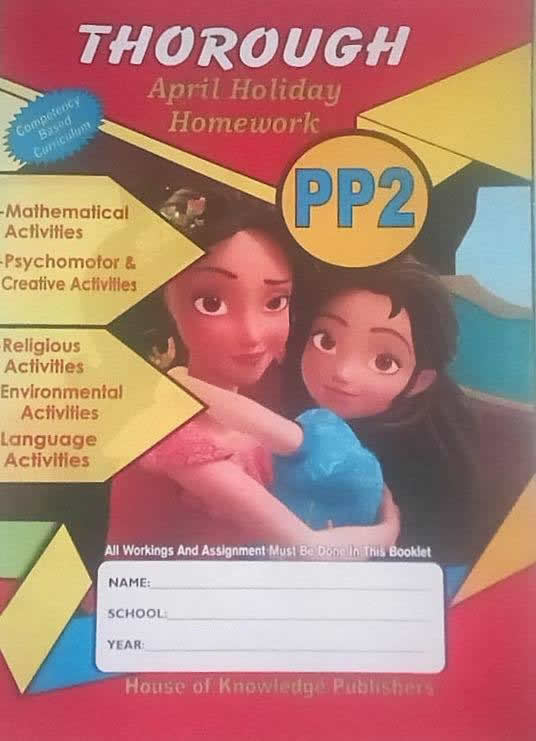 Thorough Holiday Homework Book PP2