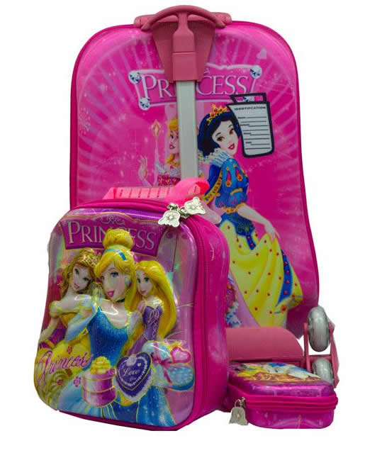 Princess Suitcase Trolley Set 3in1