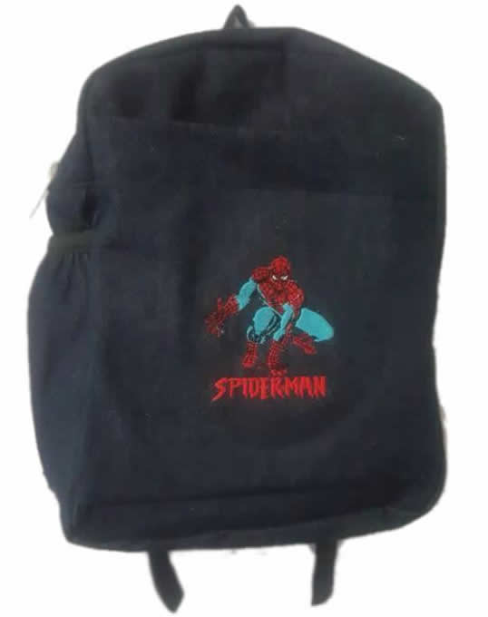 Spiderman Single Pad School Bag Small Size Denim