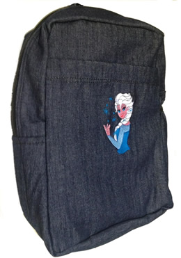 Frozen Single Pad School Bag Small Size Denim