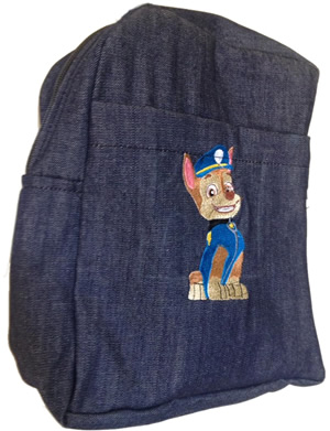 Paw Patrol single pad school bag small size denim