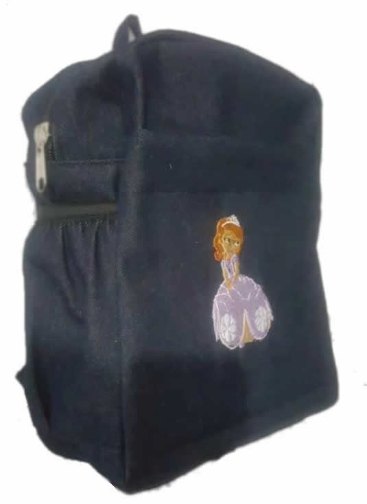 Sophia Single Pad School Bag Small Size Denim
