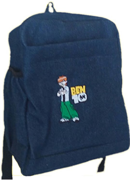 Ben10 Single Pad School Bag Small Size Denim