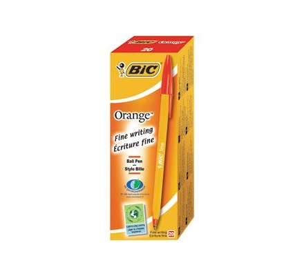 Bic Fine Point Biro Red 20pc box