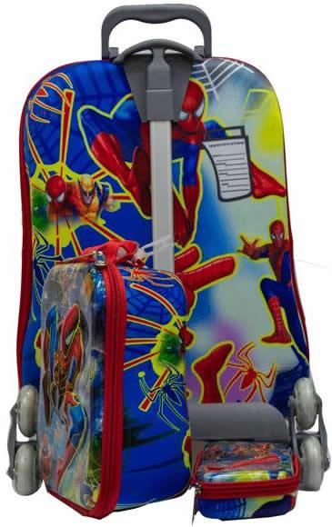 Spiderman 3in1 Suitcase Trolley Set 3in1